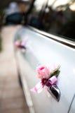 Wedding car with beautiful flower Stock Photo