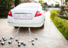 Wedding car with beautiful flower Royalty Free Stock Photo