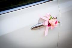 Wedding car with beautiful flower Stock Photos