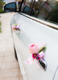 Wedding car with beautiful flower Royalty Free Stock Photos