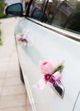 Wedding car with beautiful flower Royalty Free Stock Photos