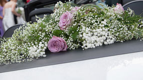 Wedding car Royalty Free Stock Photos