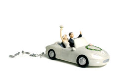 Wedding car cake topper. On a white background stock image