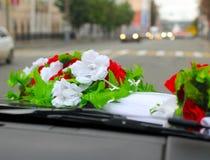 Wedding car decor flowers bouquet. Stock Photography