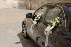 Wedding car decorated Stock Image