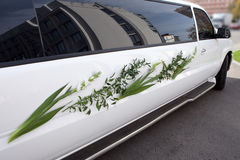 A wedding car decorated. Stock Photography