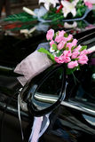 Wedding car decoration Royalty Free Stock Photography