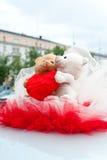 Wedding car decoration Royalty Free Stock Photo