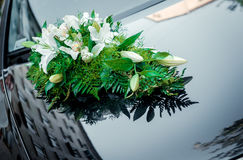 Wedding car decoration Stock Photography