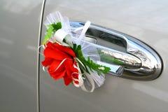 Wedding car decoration Stock Photo