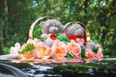 Wedding car decoration Stock Photos