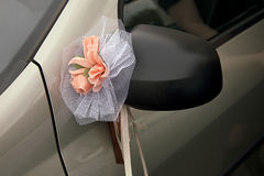 Wedding car decoration Stock Photos