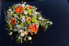Wedding car decoration Royalty Free Stock Photography