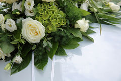 Wedding Car Decoration. With Flowers Stock Photography