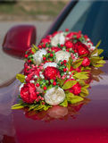 Wedding car decoration Royalty Free Stock Images