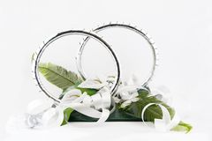 Wedding car decorations Royalty Free Stock Photo