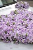 Wedding Car Flowers Stock Image