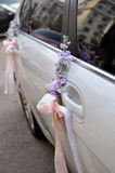 Wedding Car Flowers Stock Image