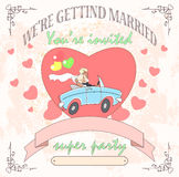 Wedding car Royalty Free Stock Photography