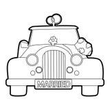 Wedding car icon, outline style Stock Image