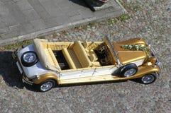 Wedding car. This wedding car looks like a toy Royalty Free Stock Photos