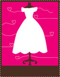 Wedding card. Vector illustration of wedding card Stock Photos