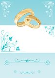 Wedding card. With florals and copy-space, illustration stock illustration