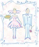 Wedding card. Royalty Free Stock Photography