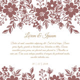 Wedding card Royalty Free Stock Photography