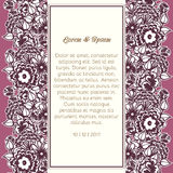 Wedding card. Or invitation with abstract floral background Royalty Free Stock Images