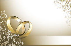 Wedding card. With wedding rings
