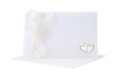 Wedding card. Wedding invitation card over white background Stock Photo