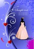 Wedding card background Stock Photo