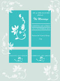 Wedding card. Beautiful illustration with wedding card invitation Stock Photography