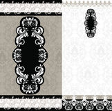 Wedding card (black and white) Royalty Free Stock Images