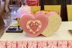 Wedding card box Royalty Free Stock Photos