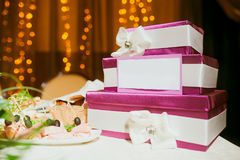 Wedding card box Royalty Free Stock Photography
