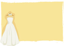 Wedding card - bridal gown vector Stock Photography