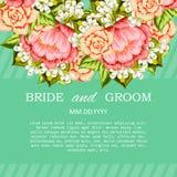 Wedding card Royalty Free Stock Photography