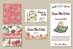 Wedding card collection. Template of invitation card. Decorative greeting invitaion design Royalty Free Stock Image