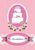 Wedding card design Royalty Free Stock Photo