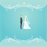 Wedding card. Elegant floral borders for wedding invitation card design Royalty Free Stock Photography