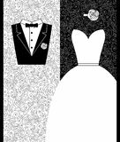 Wedding card in elegant style Royalty Free Stock Image