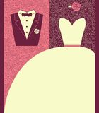 Wedding card in elegant style. Royalty Free Stock Photography