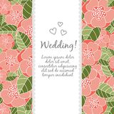 Wedding card with floral elements Royalty Free Stock Photos