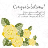 Wedding card with floral elements Stock Photo