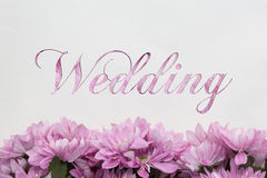 Wedding card with flowers design Royalty Free Stock Photography