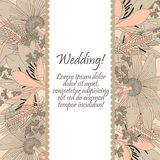 Wedding card with flowers lily Royalty Free Stock Images