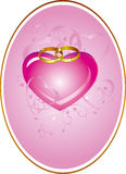 Wedding card with heart Royalty Free Stock Images