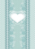 Wedding card with heart frame Royalty Free Stock Photography